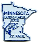 Minnesota Land of Lakes State Fridge Magnet