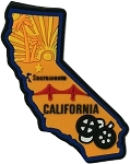 California Multi Color Fridge Magnet