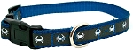 Maryland Blue Crab Small Blue and Grey Reflective Dog Collar