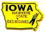 Iowa The Hawkeye State Fridge Magnet