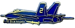 Navy F-18 Blue Angels Fridge Magnet
