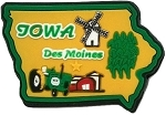 Iowa Des Moines Multi Color Fridge Magnet