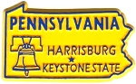 Pennsylvania The Keystone State Fridge Magnet