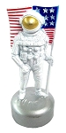 Astronaut with Flag Die Cast Metal Collectible Pencil Sharpener