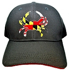 Maryland Crab with Flag Design Grey Hat