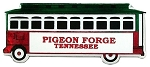 Pigeon Forge Tennessee Jumbo Trolley Fridge Magnet