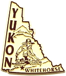 Yukon Whitehorse Canadian Outline Fridge Magnet