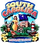 South Carolina the Palmetto State Artwood Montage Fridge Magnet