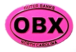 Outer Banks North Carolina OBX Pink Oval Fridge Magnet