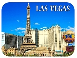 Las Vegas Skyline Fridge Magnet