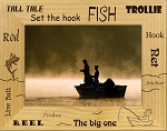 Fishing Words Laser Engraved Wood Picture Frame