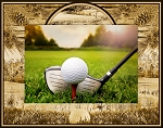 Golf Laser Engraved Wood Picture Frame
