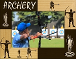 Archery Laser Engraved Wood Picture Frame