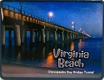 Virginia Beach Chesapeake Bay Bridge Foil Fridge Magnet