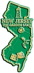 New Jersey The Garden State Map Fridge Magnet