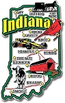 Indiana Jumbo State Map Fridge Magnet