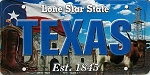 Texas The Lone Star State License Plate Souvenir Fridge Magnet