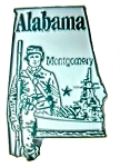 Alabama State Fridge Magnet
