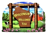 Wisconsin State Welcome Sign Artwood Fridge Magnet