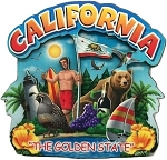 California Montage Artwood Fridge Magnet