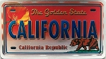 California The Golden State Foil Panoramic Dual Sided Fridge Magnet