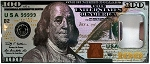 100 Dollar Bill Metal Bottle Opener Fridge Magnet