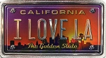 I Love LA California Foil Panoramic Dual Sided Fridge Magnet