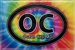 Ocean City Maryland Tie Dye Fridge Magnet