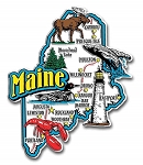 Maine Jumbo Map Fridge Magnet