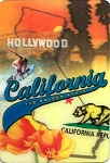 California the Golden State 3D Fridge Magnet