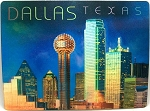 Dallas Texas Skyline with Reunion Tower 3D Postcard