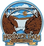 Hoover Dam Round 4 Color Fridge Magnet