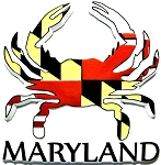 Maryland Crab Shaped Fridge Magnet