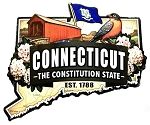 Connecticut The Constitution State Est. 1788 Artwood Fridge Magnet