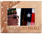 Retired American Hero Laser Engraved Wood Picture Frame