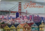 San Francisco With Row Houses 3D Fridge Magnet