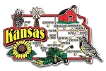 Kansas Jumbo State Map Fridge Magnet
