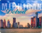 Detroit Michigan Skyline 3D Fridge Magnet