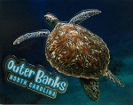 Outer Banks North Carolina with Sea Turtle Fridge Magnet