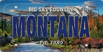 Montana Big Sky Country License Plate Souvenir Fridge Magnet