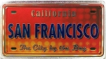 San Francisco California The City By The Bay Foil Panoramic Dual Sided Fridge Magnet