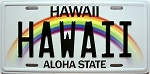 Hawaii State License Plate Fridge Magnet