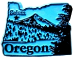Oregon Salem Fridge Magnet