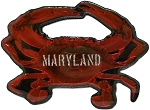 Maryland Crab Foil Design Fridge Magnet