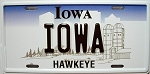 Iowa State License Plate Novelty Fridge Magnet