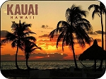 Kauai Hawaii Sunset Fridge Magnet