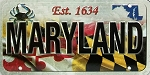 Maryland License Plate Souvenir Fridge Magnet
