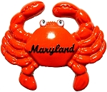 Maryland Crab with Googly Eyes Ceramic Fridge Magnet