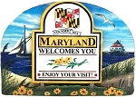 Maryland State Welcome Sign Artwood Fridge Magnet