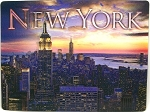 New York City Empire State Building From 30 Rock 3D Postcard
